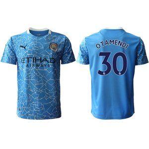 Manchester City Nicolas Otamendi Blue 20-21 Jersey